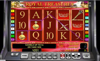 Автомат Royal Treasures в казино 777